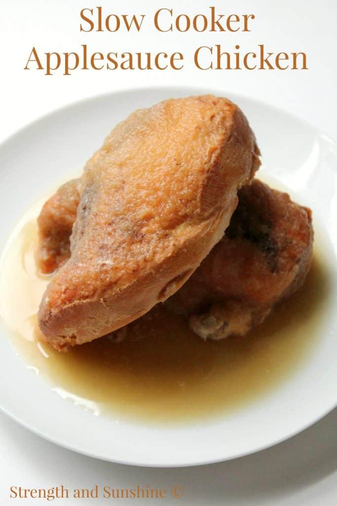 slow cooker applesauce chicken