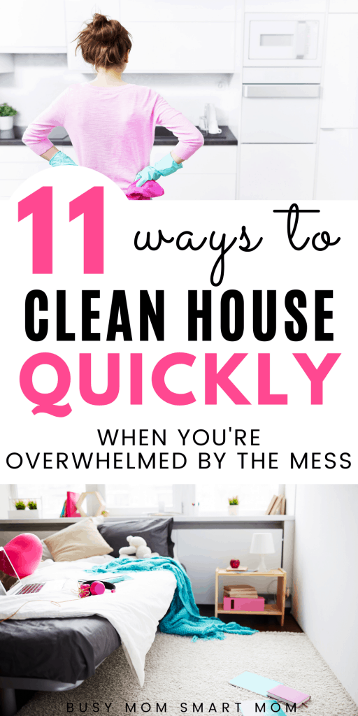 clean house quickly