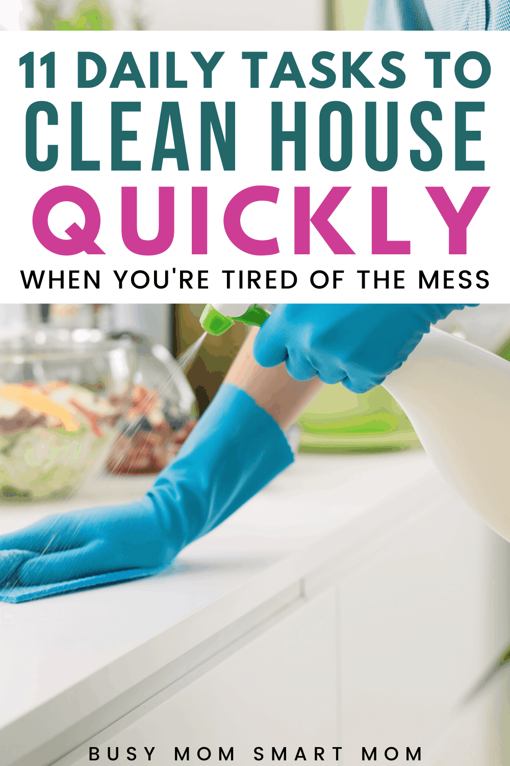 woman cleaning house