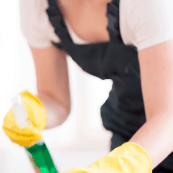 woman dusting surfaces