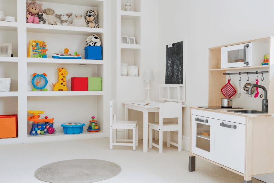 organized childs room