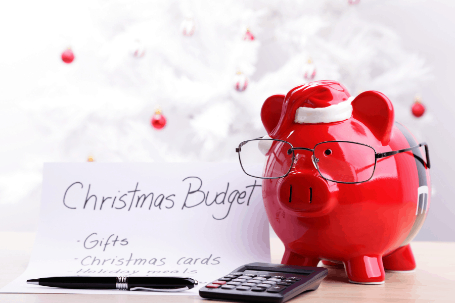 organized christmas budget